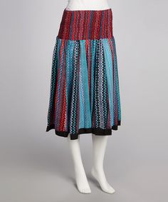 Take a look at this Red & Blue Skirt by Funky People on #zulily today!