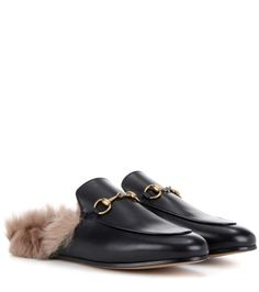 b6cbc10228b0 Gucci - Princetown fur-lined leather slippers   mytheresa.com Herren  Hausschuhe, Leder
