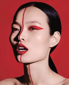 Make Up by Isamaya Ffrench, model Ling Liu, photographer Ben Hassett, Vogue China, September 2017.