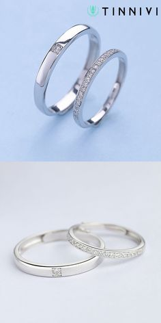 Shop ❤️Round Cut White Sapphire 925 Sterling Silver Simple Adjustable Promise Ring For Couple❤️online️, Tinnivi creates quality fine jewelry at gorgeous prices. Engagement Rings Couple, Promise Rings For Couples, Leaf Engagement Ring, Designer Engagement Rings, Wedding Bands Couples, Couple Rings Gold, Wedding Rings Simple, Unique Rings, Simple Rings