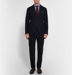 Mr Porter: Boglioli suit, Rubinacci tie, Turnbull & Asser pocket square and Hugo Boss shoes