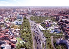 """Milan's Agenti Climatici masterplan to transform rail yards into """"ecological filters"""" Win Competitions, Green Zone, City Limits, Built Environment, Public Transport, Ecology, Landscape Architecture, Science And Technology, Climate Change"""