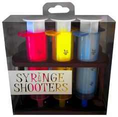 The Syringe Shooters to administer at a party for those in need of an injection. Fill each of these Syringe Shooters Party Shot Glasses up with your favorite beverage, squirt into each others mouth an Bachelorette Decorations, Bachlorette Party, Bachelorette Parties, 21st Birthday Gifts, Birthday Parties, Birthday Ideas, Party Shots, Passion Parties, Shot Glass Set