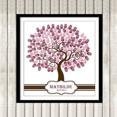 Thumbprint Tree Guest Book Poster Printable Baby by ByYolanda, €14.00
