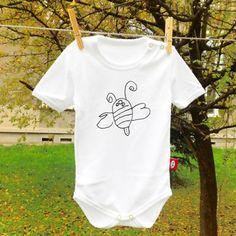 BEE / BABY ROMPER / 62  designed by 5 year old girl ;)