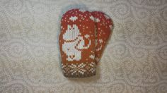 SALE: Exclusive hand-made children mittens with moomin by LanaNere Moomin, Mittens, Hands, Children, Unique Jewelry, Handmade Gifts, Pattern, Etsy, Vintage