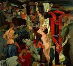 Guttuso, Renato (1912-1987) - 1940-41 Crucifixion (Galleria Nazionale d'Arte Moderna and Contemporanea, Rome, Italy) by RasMarley, via Flickr