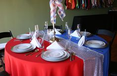 American Event Rentals' 4th of July party table!