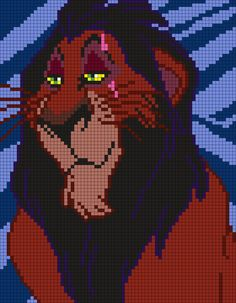 Scar From The Lion King by Maninthebook on Kandi Patterns