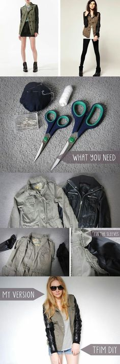 DIY LEATHER JACKET WITH SLEEVES