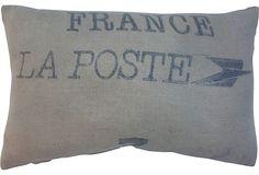La Poste Sack Pillow on OneKingsLane.com