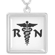 Nurses Pride RN Medical Symbol necklace