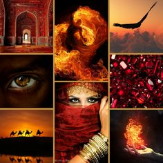 An aesthetic for the fire magic of the Fire Walkers.
