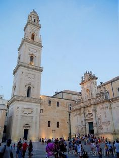 Bell tower and secodary facade of the Duomo of Lecce (Italy). Visit the website for other pictures!