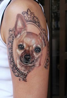 Dog tattoo love this I want something like this for my daisy bum but with a tiara