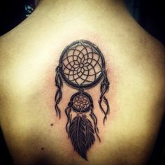 #tattoo #dreamcatcher #art #back #fresh