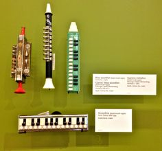 Various strange little blown accordions - cool, huh?! - from the collection at the Music Instrument Museum (MIM), Phoenix