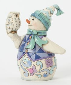 This Snowman with Owl Figurine by Jim Shore is perfect! #zulilyfinds