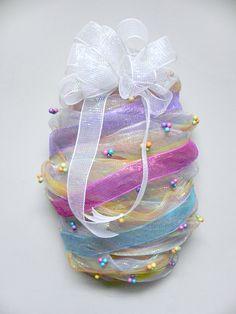 Easter Egg Decomesh Wreath    #Hoppy Easter!