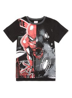 sale retailer 35dd2 2a0bb Black Spiderman Short Sleeve T-Shirt Boy Silhouette, Black Spiderman, Boy  Character,