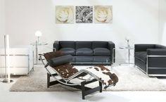 The Ultimate Livingroom:  Eileen Gray Adjustable Table,  Le Corbusier LC4 Chaise Longue, Eileen Gray Tube Light,  Le Corbusier LC10 Table, Le Corbusier LC2, Wagenfeldt WG24