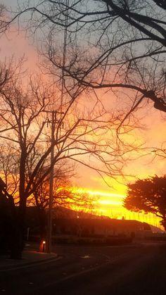 Sunset over Angel Island