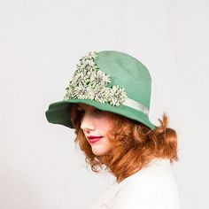 vintage 1920s hat / wool cloche / Young Daisy by PoppycockVintage