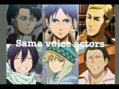 Same voice actrors  Attack on Titan/Noragami Anime