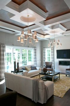 high, coffered ceiling. LOVE.