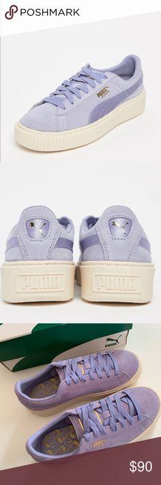 New Puma suede platform sneakers 6.5 Brand new with box Size 6.5 women  Lilac puma platform d10609010
