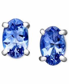 Tanzanite white gold earrings £101