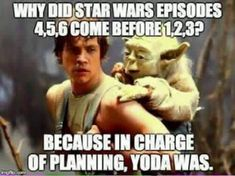 Because in charge of planning, Yoda was. Star Wars: Episode VII - The Force Awakens - Page 807 - Blu-ray Forum Star Wars Meme, Star Wars Episoden, Star Wars Quotes, Melanie Griffith, Pulp Fiction, Science Fiction, Leonardo Dicaprio, Citations Star Wars, Funny Memes