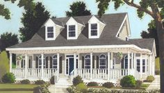 Great wrap-around PORCH 6993 - 3 Bedrooms and 2 Baths | The House Designers