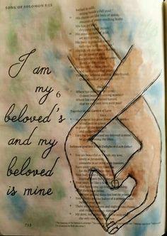 Song of Solomon Lied Salomos Bible Study Journal, Scripture Study, Bible Art, Art Journaling, Faith Bible, Bible Scriptures, Bible Quotes, Bible Drawing, Bible Doodling