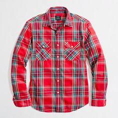 Factory winterweight flannel workshirt