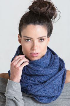 Worked in one piece with gorgeous cables and ribbing, the Quincy Scarf by Becky Yankowski is the perfect showcase for a special yarn with luxurious softness. Take a closer look in knit. Scarf Patterns, Knitting Patterns, That Look, Take That, Knit Wear, Closer, Infinity, Spring Summer, One Piece