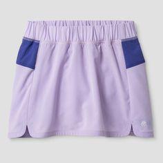 Girls' Woven Tennis Skort - C9 Champion - Lilac (Purple) XS, Girl's