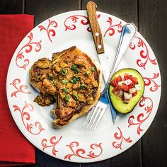Paleo Latin pork chops. Simple ingredients: 1/2 medium onion, diced 1/2 teaspoon arrowroot powder 2 cloves garlic, minced 1 teaspoon chili powder 1/2 teaspoon ground cumin 1/4 teaspoon dried oregano  2/3 cup chicken broth 1 tablespoon lime juice 1 (4 ounce) can diced green chiles 1/4 cup fresh cilantro leaves, minced