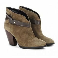 SKYLAR ankle bootie in army by sole society  from ILoveCuteShoes.com