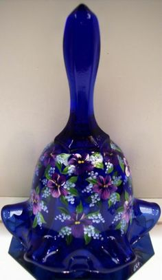 Fenton Bell Cobalt Blue Glass with Variations of Violets