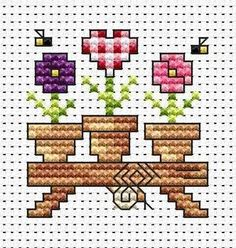 Flower Shelf cross stitch card kit available from Busy Lizzie Crafts - we offer the complete range of kits from Fat Cat Cross Stitch. Tiny Cross Stitch, Cross Stitch Needles, Cross Stitch Heart, Cross Stitch Cards, Simple Cross Stitch, Modern Cross Stitch, Cross Stitch Flowers, Counted Cross Stitch Patterns, Cross Stitch Designs