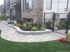 Bordures et trottoirs - Pavé Expert Patrick Marchand Backyard, Patio, Front Entrances, Pathways, Sidewalk, Entrance Ideas, Landscape, Outdoor Decor, Floor