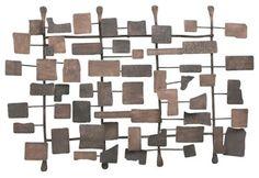 metal wall sculpture -