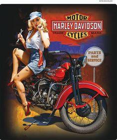 Harley Pinup Girl Mechanic