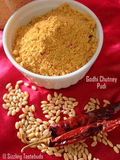 Sizzling Tastebuds: Godhi Chutneypudi   Wholewheat Spice Powder   Condiment recipes