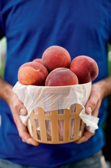 Fresh peaches Photo by Andrew Cebulka