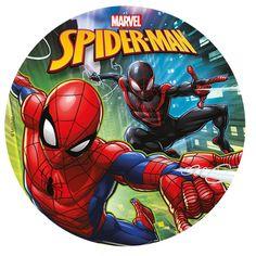 Kakebilde - Spiderman - 20cm - Sukker  Spiselig kakebilde med Lisensiert Spidermanmotiv. La Spiderman gjøre kaken flott og fin til et garantert fornøyd bursdagsbarn!Kakebildet kommer ferdig til bruk, og du drar enkelt av bakpapiret, og legger sukkerbildet ned på kaken.Vipps så har du en flott bursdagskake til glede for både deg selv, bursdagsbarn og gjestene!Kakebildet måler 20cm i diameter og er laget av sukker.  #Fondant og Kakebilder Spiderman Pictures, Frosting Colors, 4th Birthday Cakes, Superhero Cake, Cakes For Men, Cake Images, Son Love, Sissi, Peppa Pig