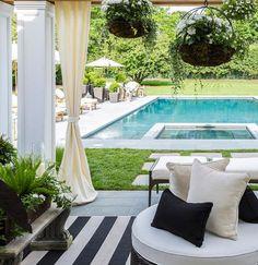 Pool/patio/and pergola inspo Caleb Anderson Design for Hampton Designer Showhouse 2014 Swimming Pool Landscaping, Backyard Landscaping, Swimming Pools, Landscaping Ideas, Patio Ideas, Cozy Backyard, Garden Ideas, Backyard Ideas, Backyard Pools