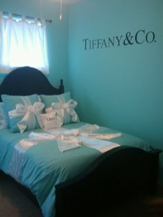That Tiffany blue inspired bedroom