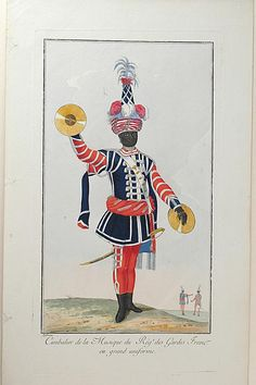 Nicolas Hoffmann, Cimbalier of the French Guards Regiment Music in large Uniform